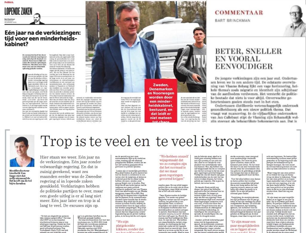 Entre ras-le-bol et optimisme, le bilan des éditorialistes flamands un an après les élections