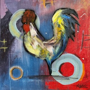 Rooster Series by David Acevedo painting