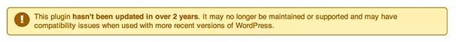 Outdated Plugin Notice