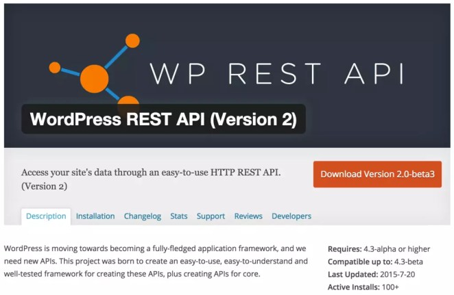 WP API WordPress plugin