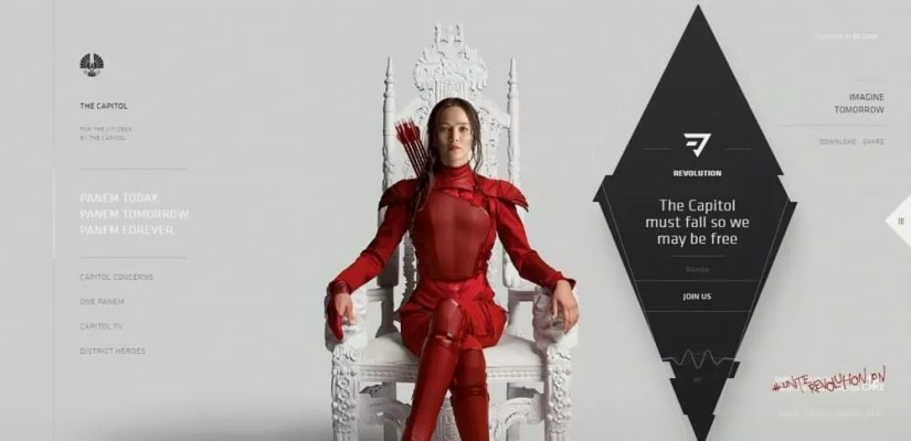 The Capital. Woman in red in a throne.