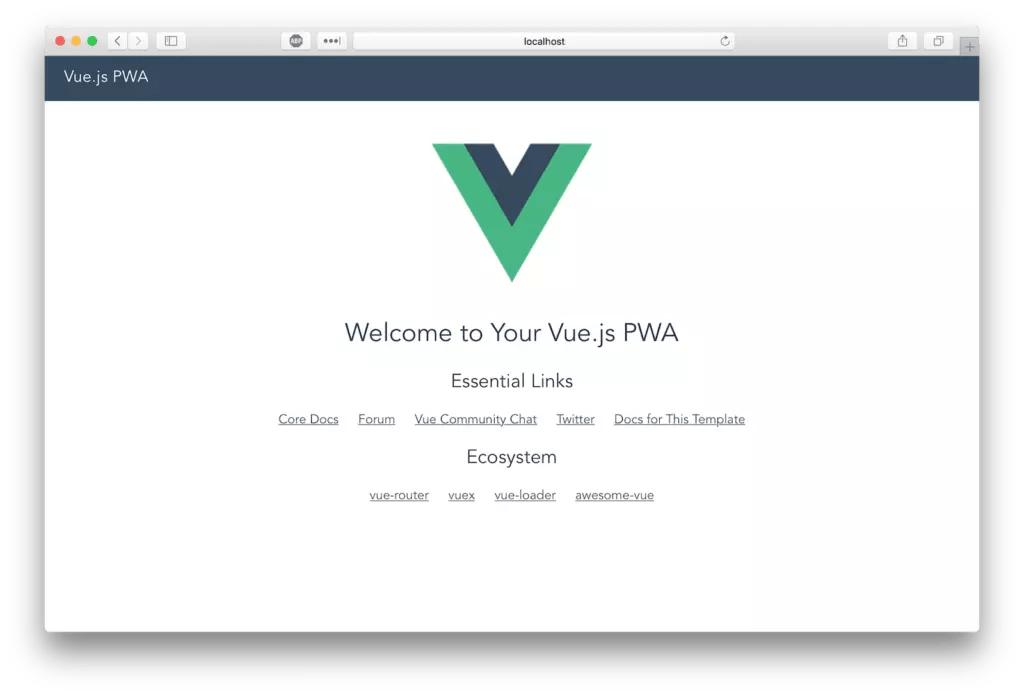 Welcome to Your Vue.js PWA