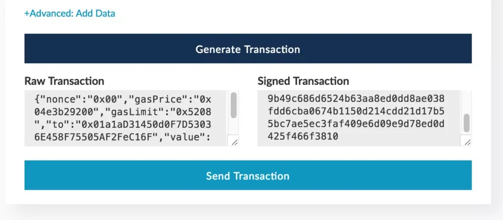 Generated transaction