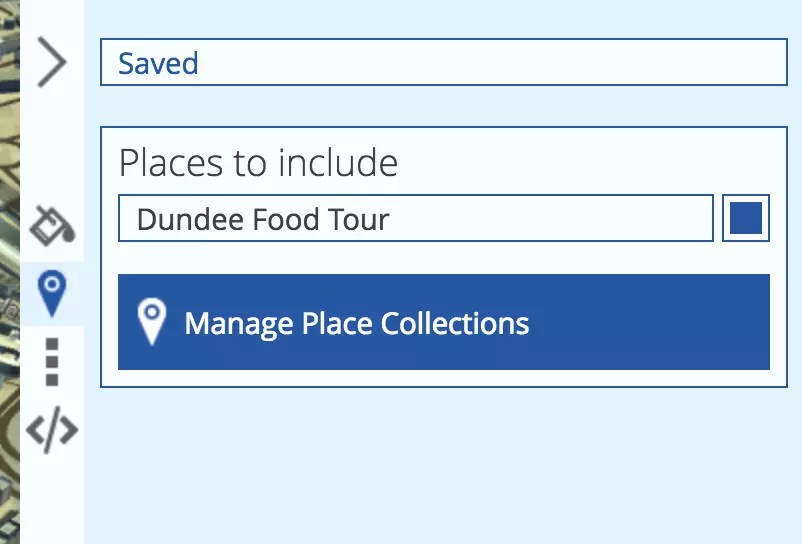 Configuring our places collection for inclusion