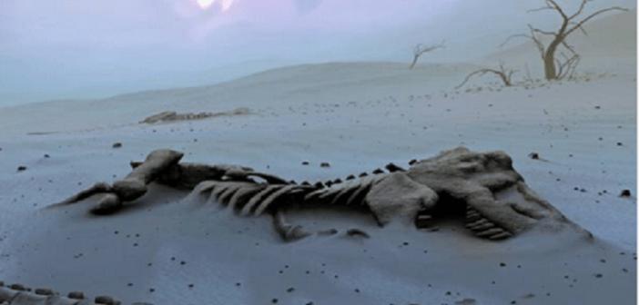 العثور ديناصور