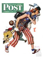 """""""Rosie to the Rescue""""- Saturday Evening Post Cover"""