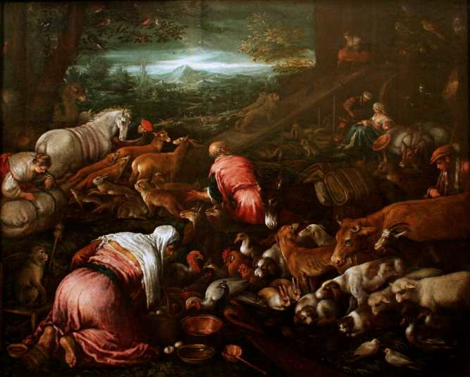 Animals Boarding Noah's Ark