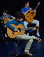 Guitaristes en spectacle