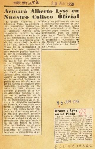 1959 recorte lysy drago chico