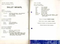 Programa de mano Ballet Pedro y el lobo Teatro Argentino de La Plata