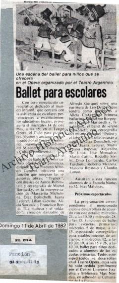 Artículo periodístico 1982