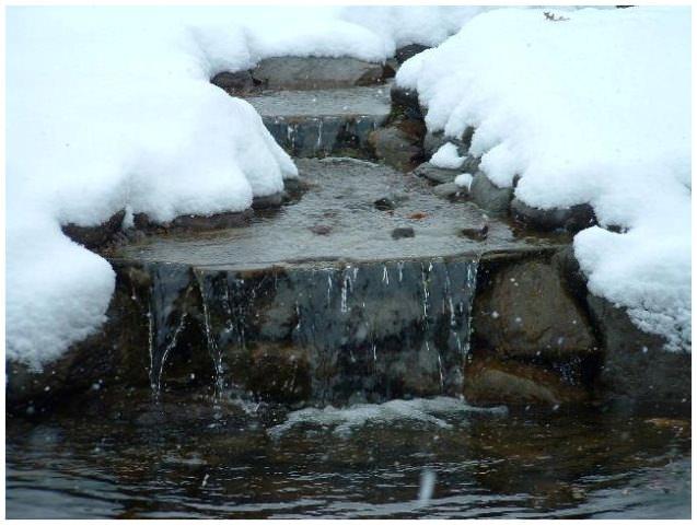 Как укрыть пруд на зиму