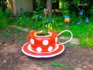 Поделки из шин для сада и огорода своими руками: мастер класс