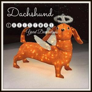 Dachshund Christmas Yard Decoration