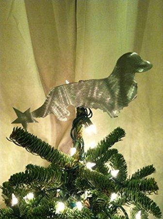 dachshund christmas tree topper