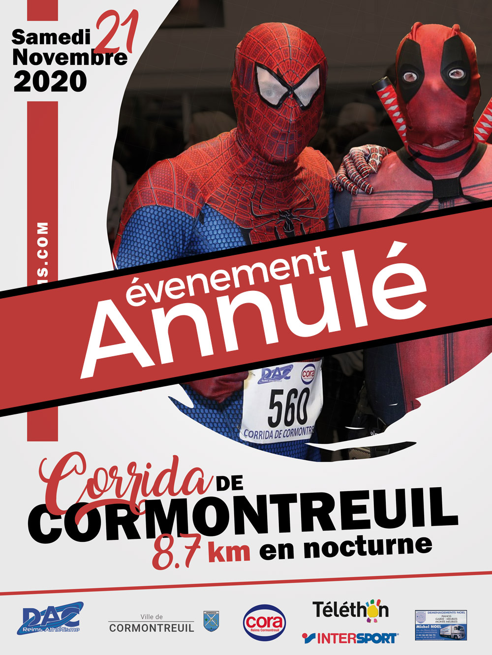 corrida cormontreuil 2020 annulée