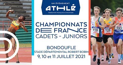 affiche france jeunes athlétisme bondoufle 2021