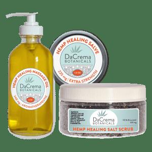 Dacrema Botanicals Combo Pack 3 Hemp Healing Products