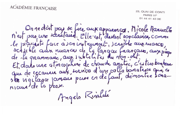 Transcription Angelo Rinaldi