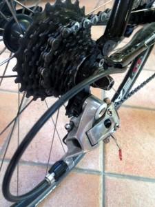 cambio bici pignone deragliatore