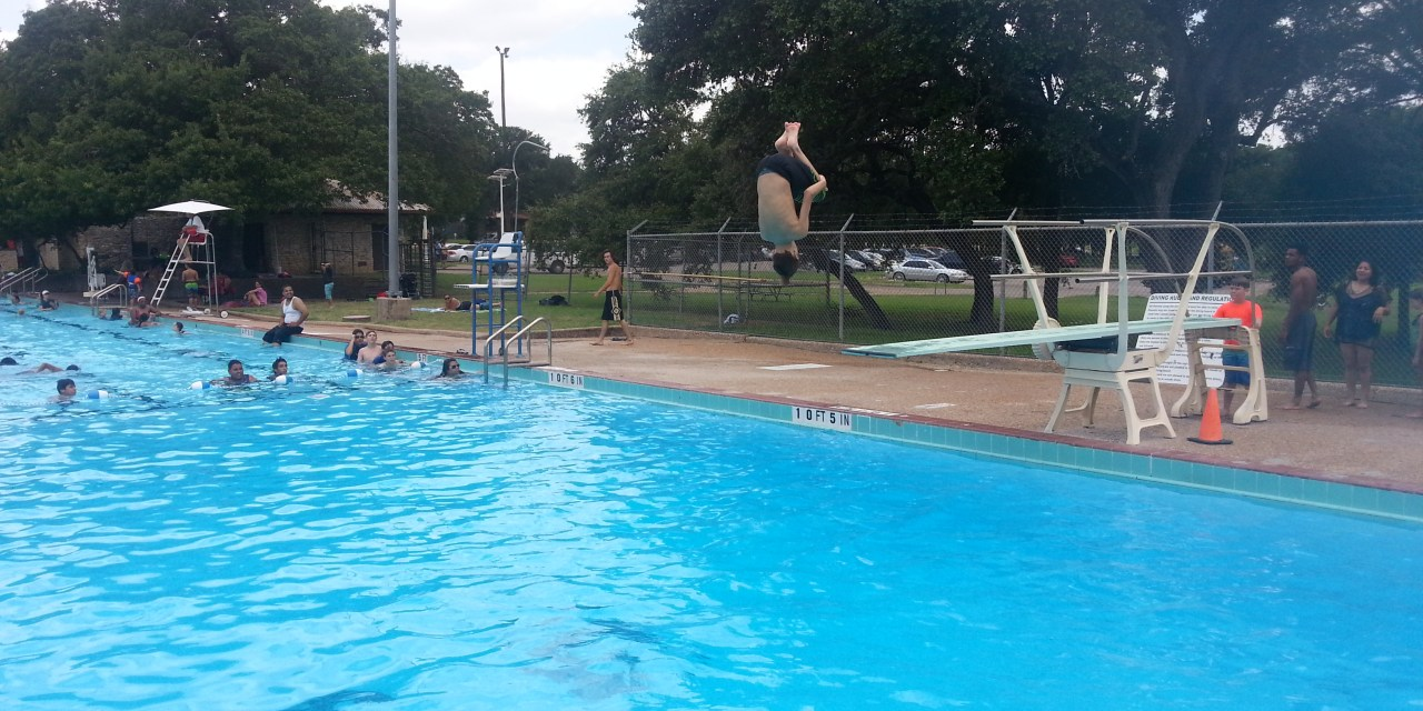 Garrison Park Pool has a Diving Board!