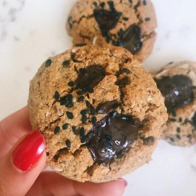 Tahini Coconut Chocolate Chunk Cookies (Vegan, Gluten-Free, Grain-Free)