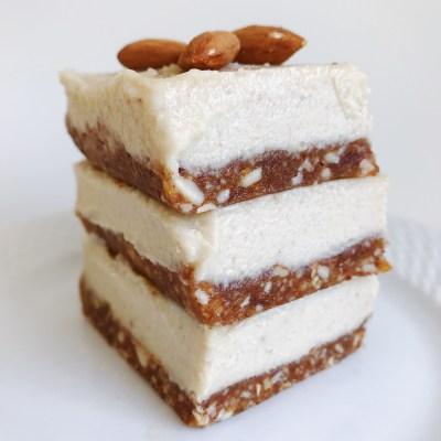 Raw, Vegan & Gluten-Free Salted Almond Cheesecake