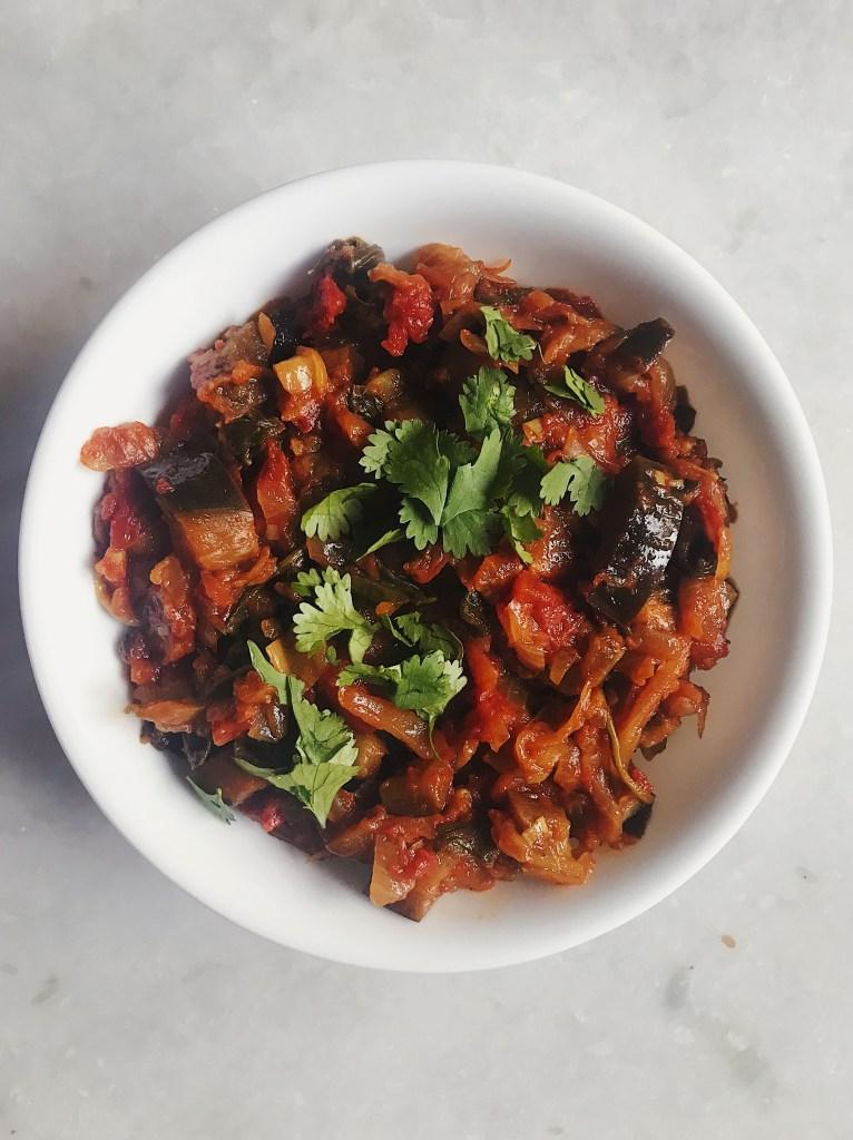 spiced eggplant masala