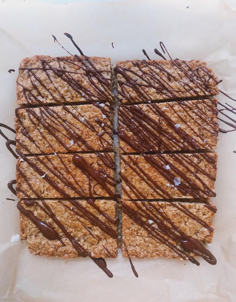 Baked Nut-Free Maple Granola Bars (Gluten-Free, Vegan)