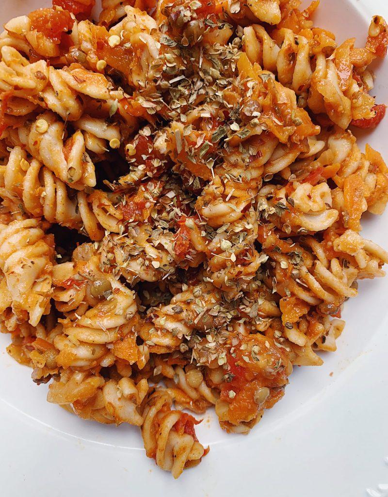 Spicy Lentil Bolognese