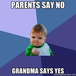 grandma, nana, parenting, kids, spoiled