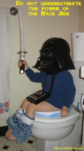 potty, potty training, the force, darth vader, darth pooper, yoda, there is no try, development, toddlers, parenting, dads, elmo, everybody poops, diapers