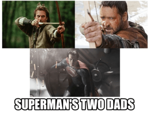 superman, man of steel, movies, russell crowe, kevin costner, parenting, dads, fathers, comics, superheroes, dads, toddlers