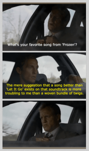 HBO, True Detective, Frozen, TV, movies, Disney, Tumblr, McConaughey, Woody harrelson, Carcosa, Lovecraft, parenting, funny, blogs, kids