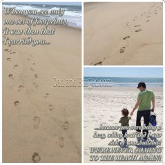 parenting, dad and buried, dad blogs, mom blogs, motherhood, fatherhood, funny, humor, footprints in the sand, bible, religion, wordless wednesday, image, meme, beach, parenting, kids, poem, poetry, dads, dad bloggers, corinthians, jesus
