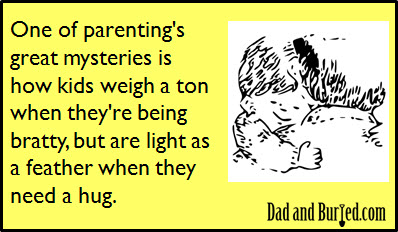 parenting, e-card, ecard, parents, dads, dad bloggers, moms, mommy bloggers, fatherhood, children, kids, motherhood, humor, funny, wordless wednesday, family, life, lifestyle, weight displacement