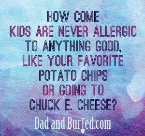 sick, allergies, peanut butter, vomit, epipen, fear, parenting, parents, dad and buried, mommy blog, dad blog, parenthood, funny, family, humor, mike julianelle