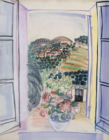 Open Window at Saint-Jeannet circa 1926-7 Raoul Dufy 1877-1953 Bequeathed by Mrs A.F. Kessler 1983 http://www.tate.org.uk/art/work/T03565