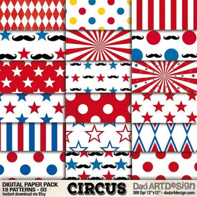 Circus Patterns Digital Paper 03