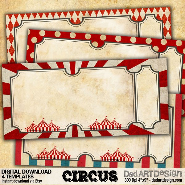 Circus Invitation Card templates
