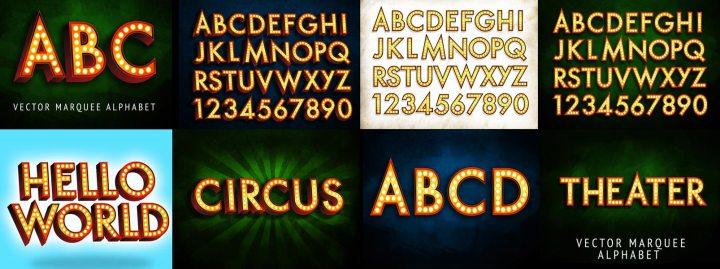 Marquee 3 Vector Broadway Alphabet