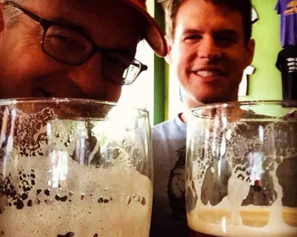w doug and beer
