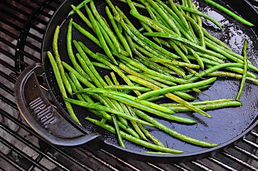 Pan Grilled Green Beans Dad Cooks Dinner