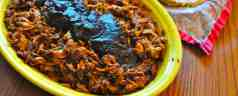 Slow Cooker Mexican Shredded Pork with Dried Chile Pepper Sauce (Pork Deshebrada)