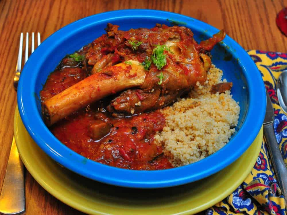 Pressure Cooker Persian Lamb Shanks with Eggplant and Tomatoes ...