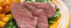 Sous Vide Flat Iron Steak with Baby Kale Salad