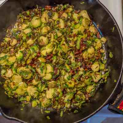 Shaved Brussels Sprouts with Bacon and Honey-1080368