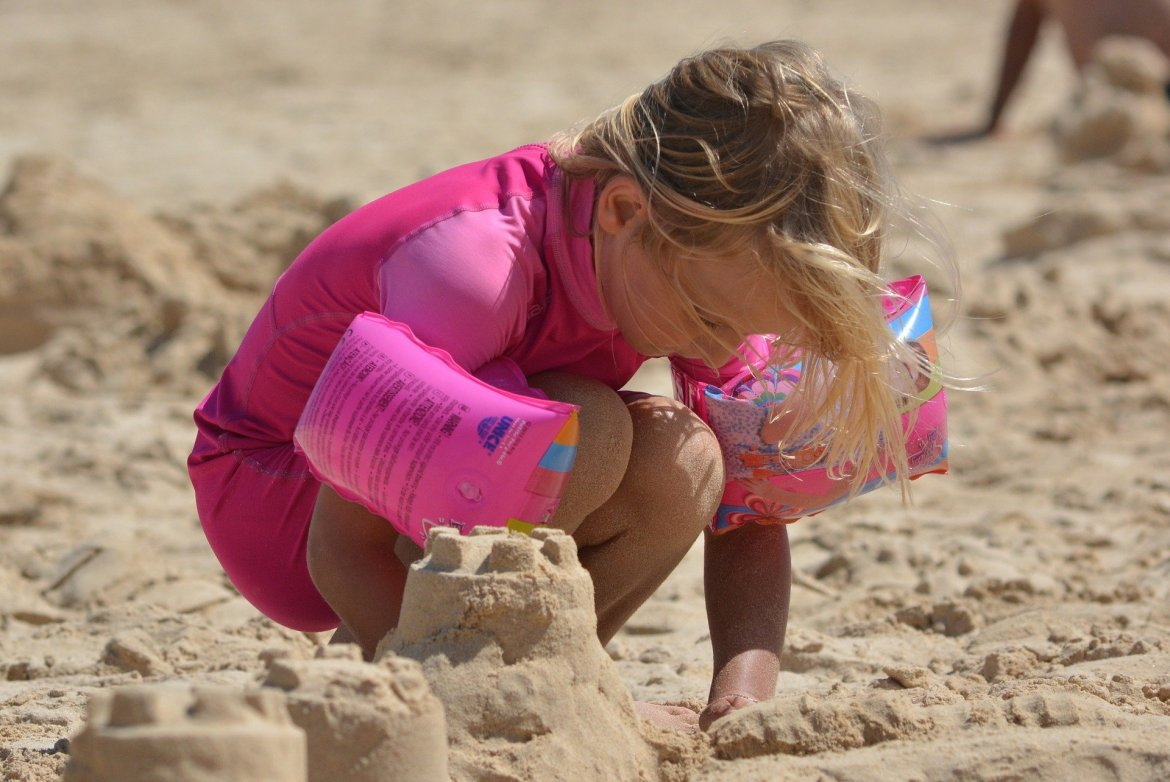 Build a Sand Castle: Whilst you are at the beach, you just have to help them build a Sand Castle. No copping out though – it has to have turrets, flags and a moat with water.