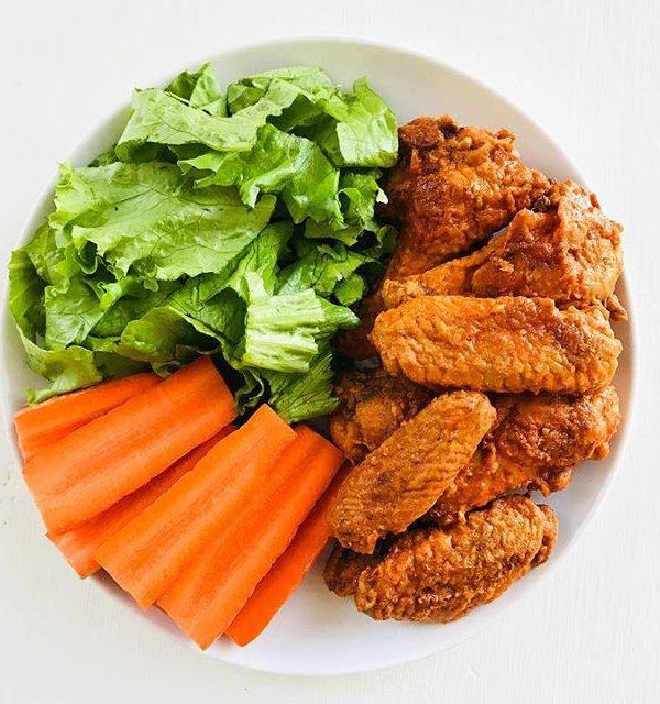Crispy Baked Buffalo Chicken Wings