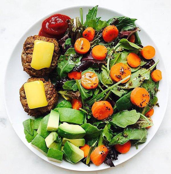 Mini Burger Sliders & Salad